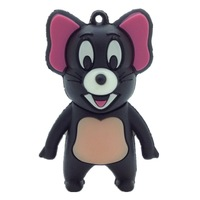 Wholesale Pen Drive Cartoon Mickey Mouse Animal Gift Tom and Jerry black mouse 4GB 8GB 16GB 32GB 64GB Usb Flash Drive Pendrive