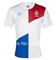 HOT SELL 13 14 clearance gift Holland national football jersey home white Robben Van Persie Jersey No refund & return
