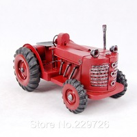 Free Shipping Hand Maded Metal Tractor Model in Red