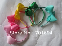 Wholesale - - baby girl hair bows attached headbands hairband hairbows headband 30pcs/ot
