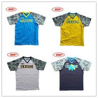 Jersey bosco Men V-neck paragraph short-sleeve T-shirt sports shirt 100% cotton