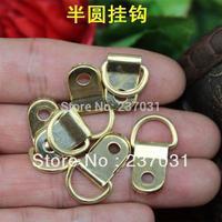 25 * 10MM semicircle yellow hook / hole hook / home improvement hardware decorative small hook / iron hook