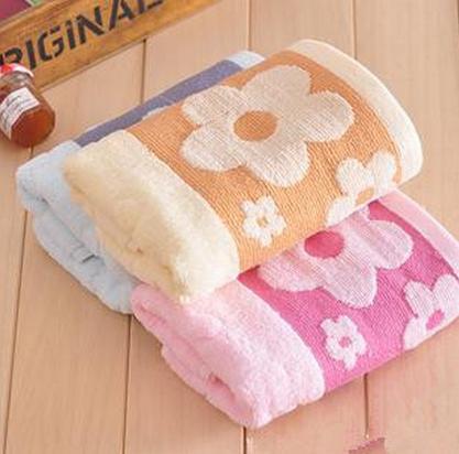 Couple towel 2pcs/lot  fashion cotton design flower terry towels  christmas towel gift   MT111-1(China (Mainland))