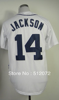 #14 Austin Jackson Men's Authentic Home White Cool Base Baseball Jersey