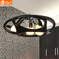 Modern brief restaurant pendant light resin cutout black bar lamps Free Sgipping