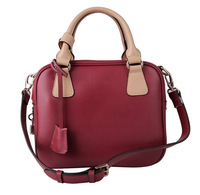 Free ship Fashion vintage leather bag color block bags handbag cross-body women's dual-use handbag