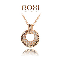 ROXI Christmas gift fashion genuine Austrian retro crystals necklace rose gold plated 100%hand made jewelry,2030021430