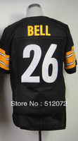 #26 Le'Veon Bell Men's Elite Team Black Football Jersey