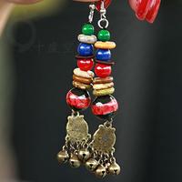 National trend earrings handmade tassel earrings small accessories chaeseokgang bell mix match long earrings female