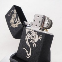 Chinese dragon kerosene lighter black crack paint series (No add kerosene)