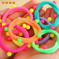 Hair accessory spherule color block neon color rubber band tousheng headband hair rope hair accessory 8692
