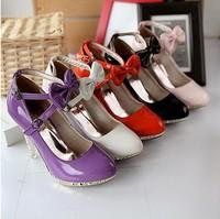 Hot selling Fashion women's high-heeled shoes Dual lace wedding dress shoes for women PU bridal shoes Size 35-39 Free shipping