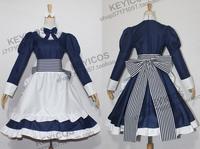 Tailored Axis Powers Hetalia Cosplay Byelorussia Natasha Alfroskaya Costume lolita maid dress for women free shipping
