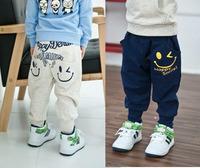 Wholesales- New arrival Happy smile allan pants, Childrend spots pants, girl boys trousers, children autum spring, 2color 5sizes