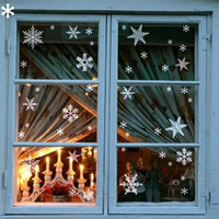 Christmas snow glass stickers christmas decoration window stickers grilles