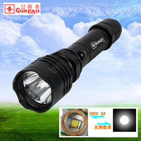 C6 strong light flashlight cree q5 aluminum glare charge flashlight