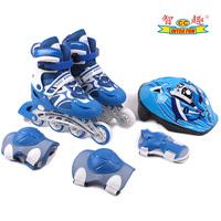Skating shoes child set skating shoes full set of inline roller skates adjustable skate shoes