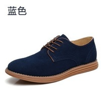 Free shipping British Style quality cowhide genuine leather shoes for men big size EU 38-48 by factory