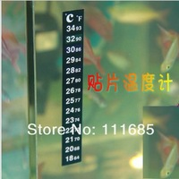 Free Shipping, 10pcs/lot Liquid Crystal Aquarium Thermometer With Aquarium Thermometer Strip And Digital Aquarium Thermometer