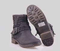 2013 NEW 12cm Height  High qualtiy Lady  Fashion boot for Women boot & Gray