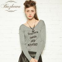 2013 autumn women's t-shirt female long-sleeve o-neck slim basic shirt long johns formal