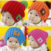 MZ062 2013 Autumn winter New !Wholesale 5 colors wool children's knitted hat,children protect ear hat fashion cap,free shipping