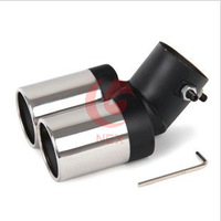 The Peugeot 408 307 206 207 407 607 automobile refitting stainless steel exhaust muffler tail pipes