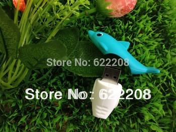 Cool hot(50pieces/lot)Hot sale dolphin  usb flash drive/pen drive/stick/memory1GB,2GB,4GB,8GB,16GB,32GB