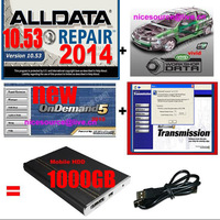 2014 fit win7 win8 Alldata 10.53 +2013 new mitchell ondemand  +VIVID WORKSHOP+mitchell transmission+ATSG etc+1000GB Hard dirve