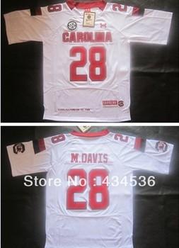 Wholesale  2013 South Carolina Gamecocks 28 Mike Davis College Football jerseys size 48-56, free shipping