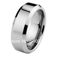 Free Shipping Cheap Price USA Brazil Russia Hot Sales 8mm Hign Polish Beveled Edge Tungsten Carbide Ring New Men's Wedding Band
