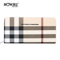 2013 wallet fashion check modern women's long design day clutch cute card holder