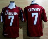 Wholesale College Football Jerseys 7 Jadeveon Clowney South Carolina Jersey New SEC Patch Free Shipping From China, Size M-3XL