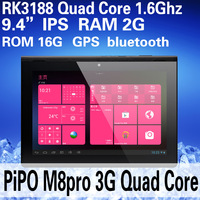Original Pipo M8 Pro 3G Android 4.1 Tablet PC 9.4 inch IPS Screen 1280*800 RK3188 1.6Ghz 2GB/16GB Dual Camera 500W WIFI HDMI