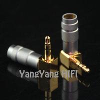 High Quality Gold plated 3.5MM stereo plug Audio Plug earphones plug for diy L plug