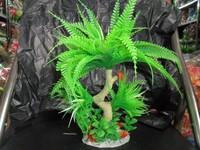 Free shipping 26CM aquarium plants for fish tank a little tree
