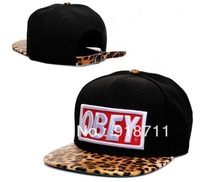 Free shipping 2013 Baseball cap OBEY leopard tidal flat along the street dance hip-hop cap