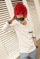 2013 autumn male long-sleeve T-shirt fashionable casual shirt slim male basic men's clothing clothes