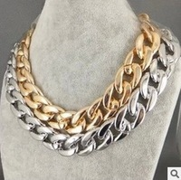 Europe and the United States foreign trade gold chain necklace with free shipping