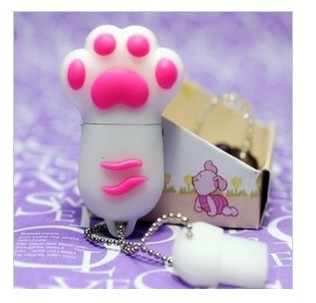 1pc  Wholesale Fashion Creative Cartoon Cute Cat's Claw Models 8GB USB Flash 2.0 Memory Drive Stick Pen/Thumb/Car Free Shipping