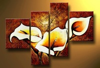 Free Shippig !!! 100% Handpainted Flower Oil Painting On Canvas,Large Wall Art ,Top Home Decoration