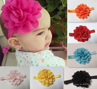 New Fashion Baby Infant Toddler Headband Beautiful Flower Hair Band Headwear Accessories 12Colors