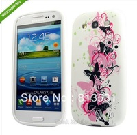 WEISS SCHMETTERLING SILIKON TPU CASE FOR SAMSUNG GALAXY S3 i9300+1pc Mobile phone stylus