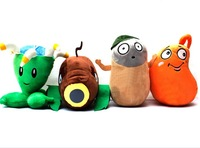 Promotion! Plants Vs Zombies 2:Its About Time plants vs zombies 2 plush toy stuffed plants doll 4pcs/lot
