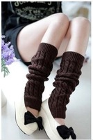 FREE SHIPPING wholesale winter acrylic women leg warmers solid color Knitting foot strap 5pairs/lot