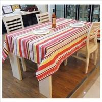 70*70cm  The rainbow stripe cloth cloth/cotton tablecloth protection oil tea table cloth