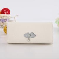 Wallet women's long design fashion 2013 women's zipper coin pocket 01 white