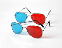 Red And Blue Vivid Sexy 3D Glasses 3D Stereoscopic Professional Movie Glasses With Plastic Eyeglasses Box