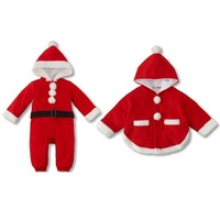 New Autumn Arrival Baby Christmas Rompers Children's Fleece Romper Cape infant long Sleeve clothes kids Bodysuit