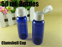 50ml clamshell bottle blue bottle make up container small/empty bottles free shipping wholesale #1867